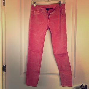 Coral/pink jeans from Armani Exchange size 2